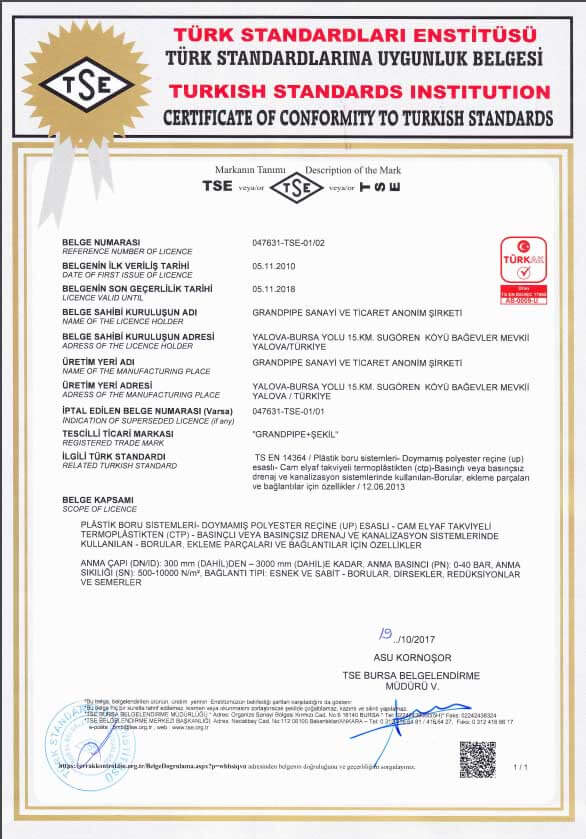 Certificates Grandpipe